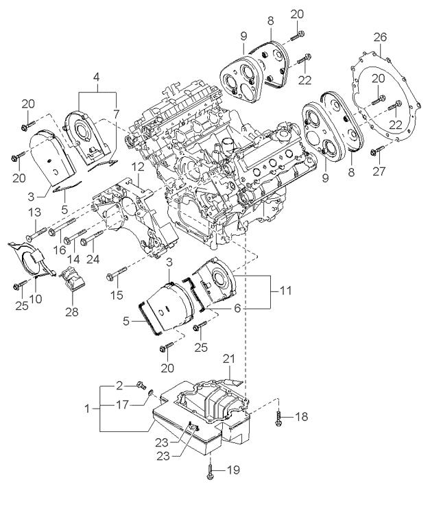 Kia Carnival/Sedona V6 Timing Cover Rear Engine
