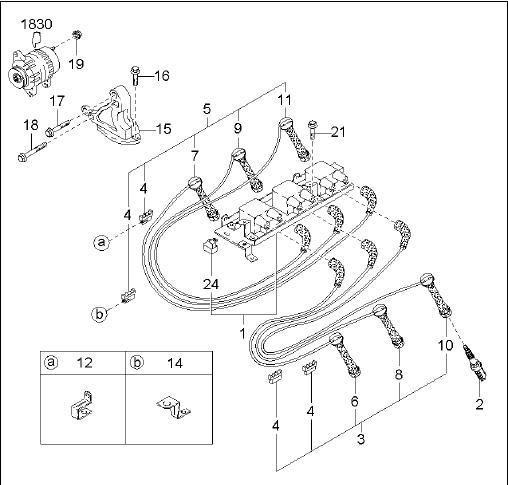 NGK PFR6N-11 Spark Plug 0K55818110 Kia Carnival/Sedona V6 Platinum Spark Plug 0K558-18110