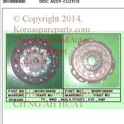 3010008400 Clutch Disc Rx290 Rx320 662LA M/T 4WD DMF