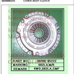 3020005222 Clutch Cover Rx290 662LA T5 M/T 4WD SMF